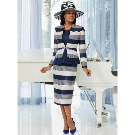 Spruce Up the Stripes 3-Pc. Suit by LUXE