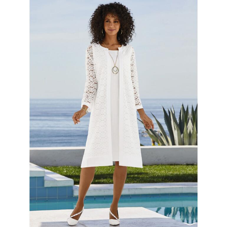 Fresh 'n' Linen Duster Dress by EY Signature