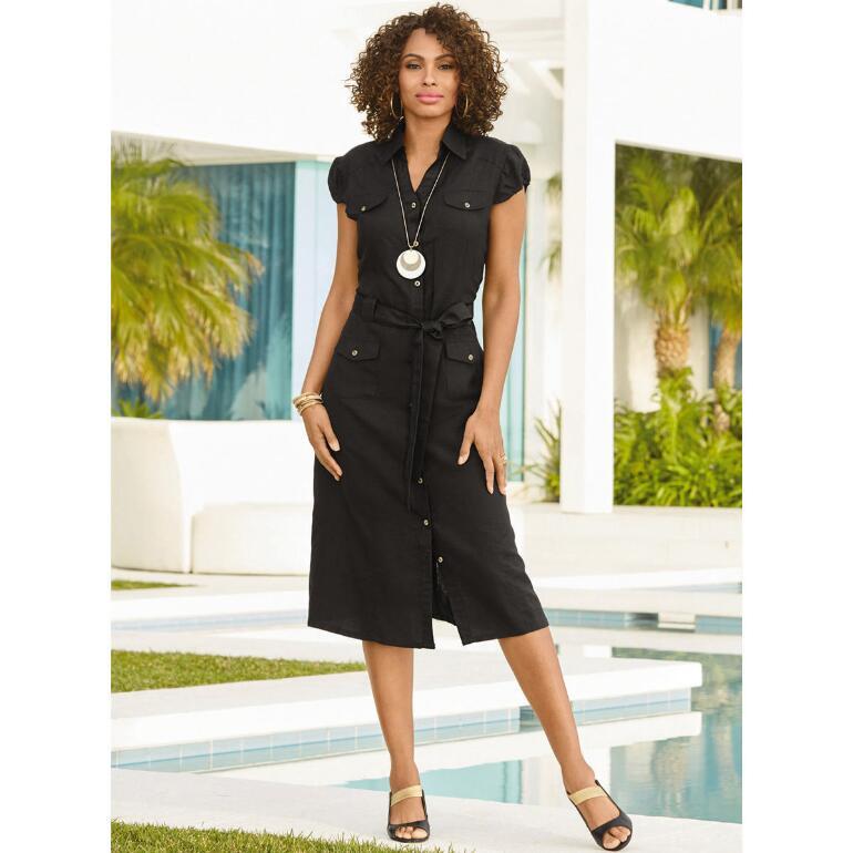 Chic Classique Linen Dress by EY Boutique