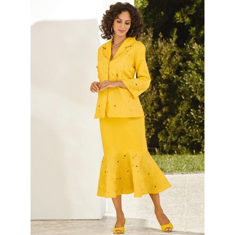 Fancy Cutwork Skirt Set by EY Boutique