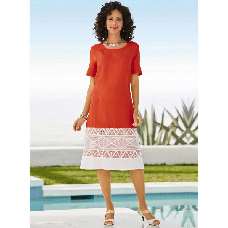 Diamond Appliqué Linen Dress by EY Boutique