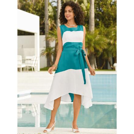 Blocks of Color Linen Dress by EY Signature