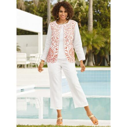 Fanciful Stitches 3-Pc. Pantset by EY Boutique