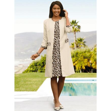 Wild About Leopard Linen Jacket Dress by EY Boutique