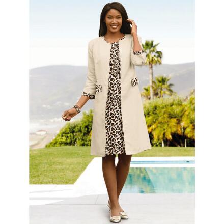 Wild About Leopard Linen Jacket Dress by EY Boutique