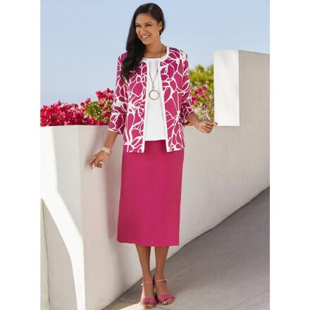 Bloomin' Linen 3-Pc. Skirt Set by EY Signature