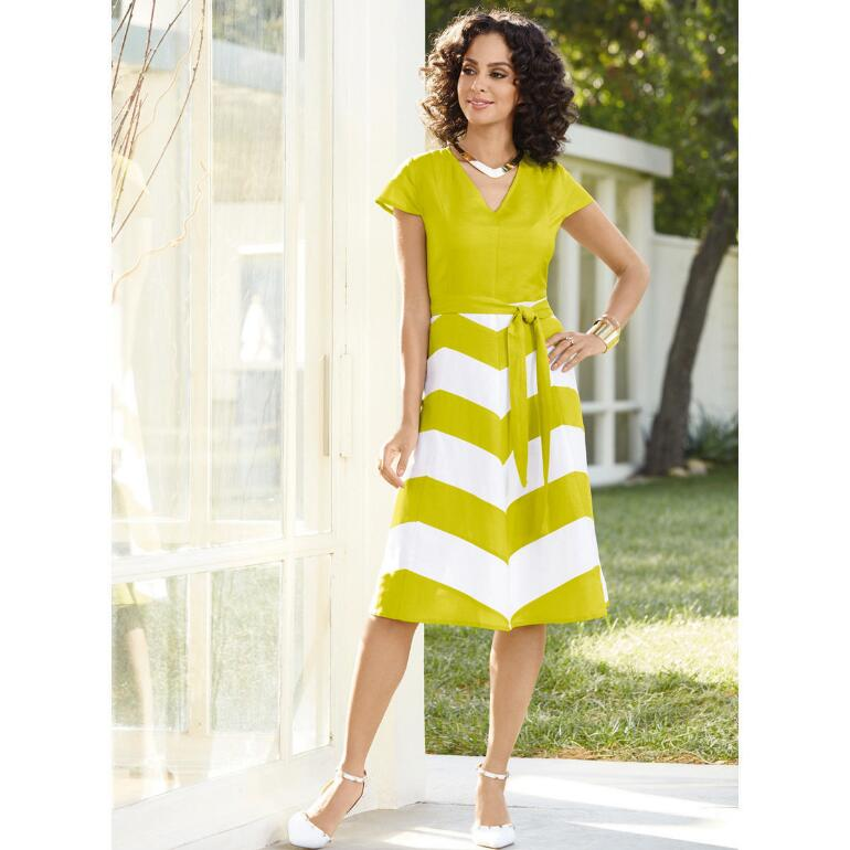 Chevronette Dress by EY Boutique