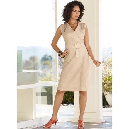Linen Wrap Dress by EY Boutique