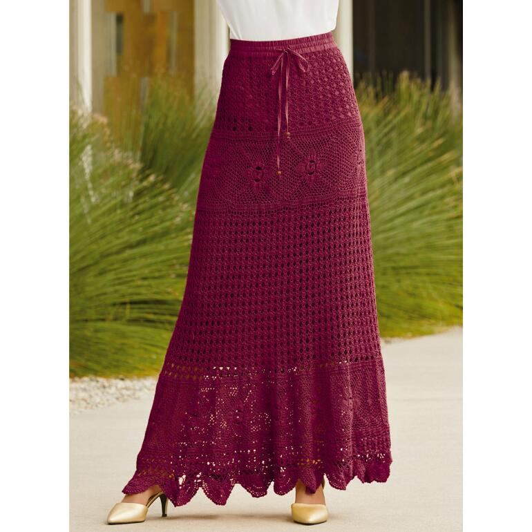 Crochet Maxi Skirt by Studio EY
