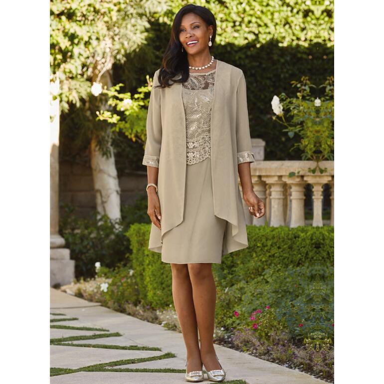 Fluid Elegance Jacket Dress by Le Bos