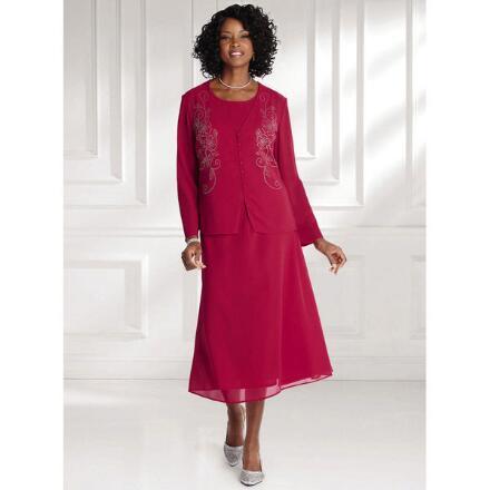 Jeweled Petals 3-Pc. Suit by EY Boutique