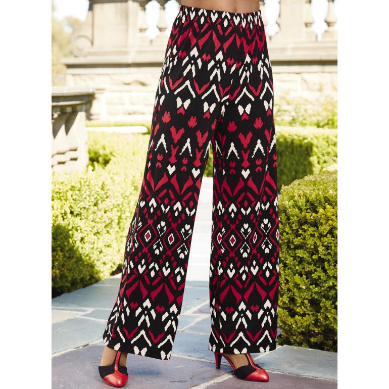 Tribal-Print Pants by EY Boutique
