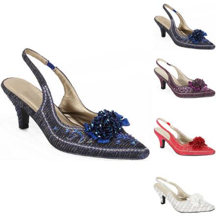 Beaded Cluster Slingbacks John Fashion™