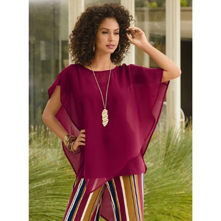 Go with the Flow Chiffon Top by Studio EY