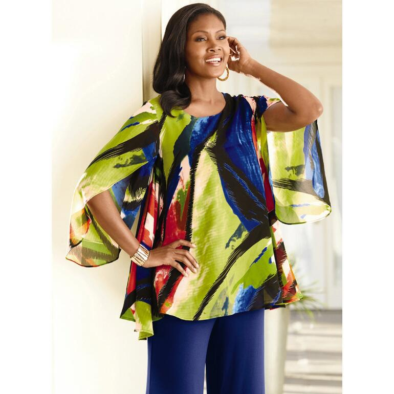 82d75dc3be8 Abstract Chiffon Swing Top by Studio EY