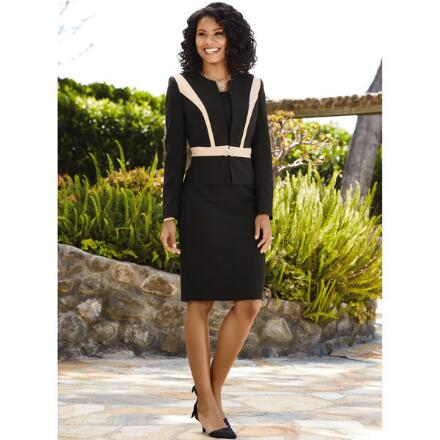 Sophisticated Lines Dress and Jacket by EY Signature