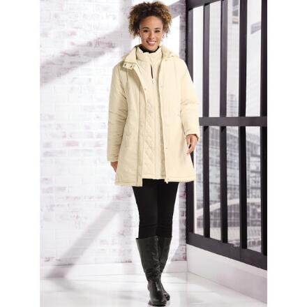 3-in-1 3/4 Puffer Coat by Studio EY