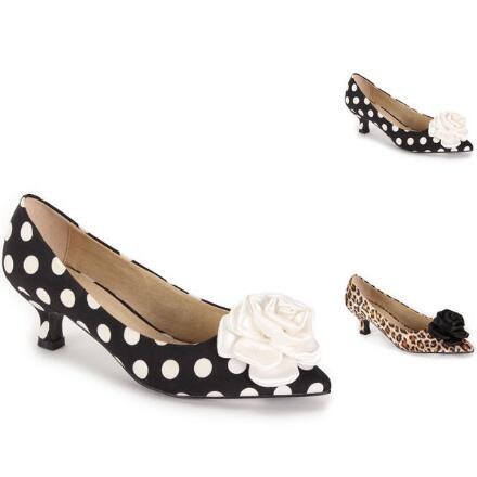 Satin Print Rose Pump by EY Boutique