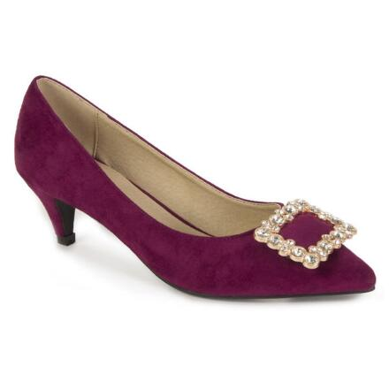 Embellished-Buckle Pumps by EY Boutique