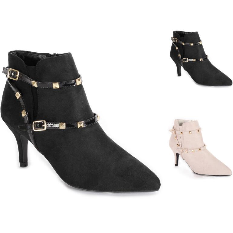 Margaux Studded Booties by EY Boutique