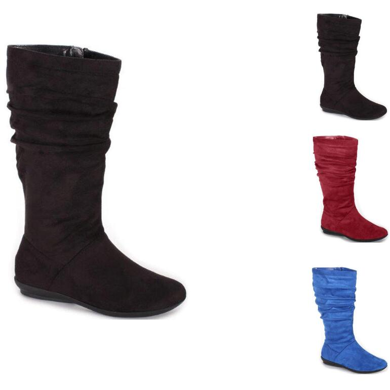 Faux-Suede Shades Boots by EY Boutique