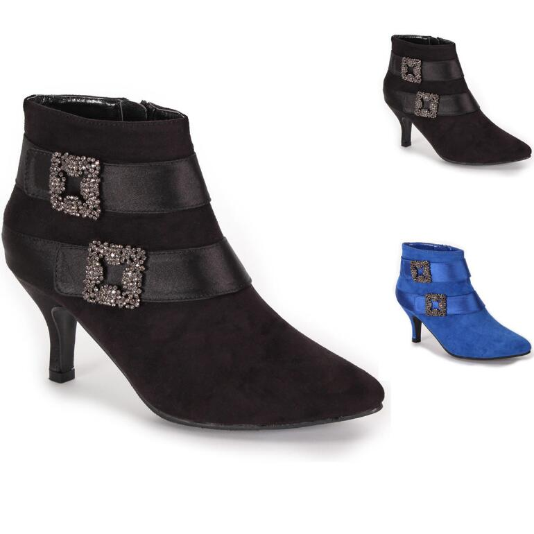 Glitzy Buckle Booties by EY Boutique