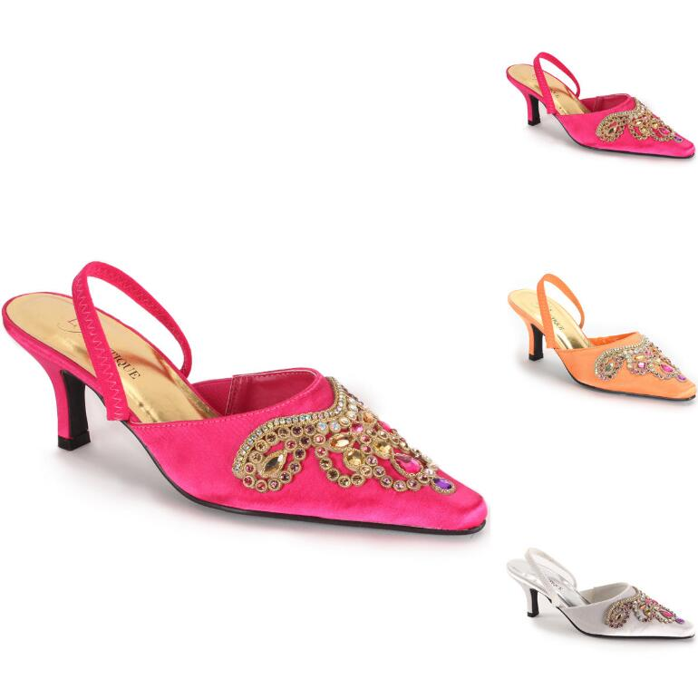 Rich Jeweled Slingback by EY Boutique