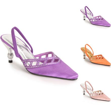 Touch of Shine Satin Slingback by EY Boutique