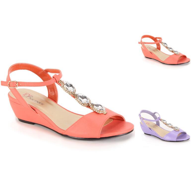 True Gem Wedge Sandal by EY Boutique
