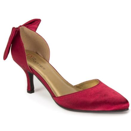 Back Bow Satin D'Orsay Pump by EY Boutique