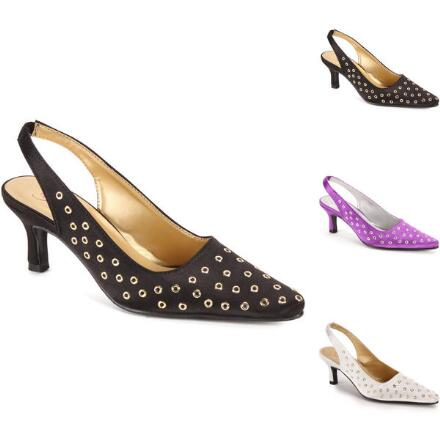Glam Grommet Slingback by EY Boutique