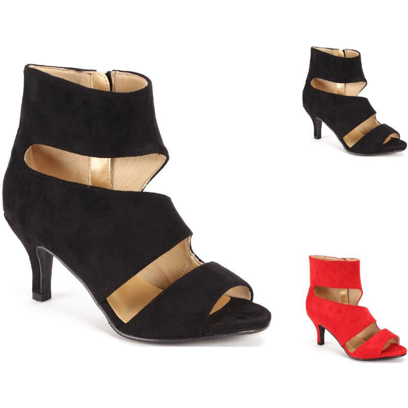 1edc8b7100 Curvy Cutout Sueded Bootie by EY Boutique