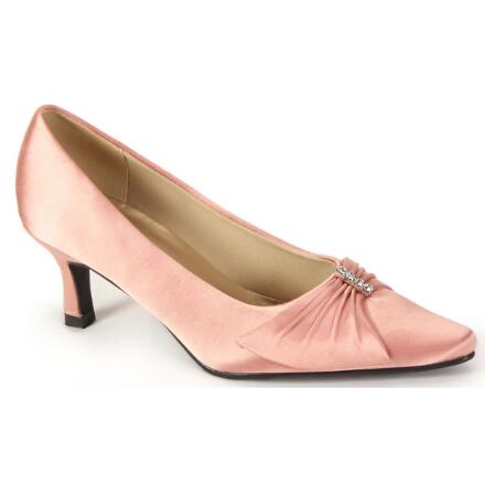 Wrapped Bow Satin Pump by EY Boutique