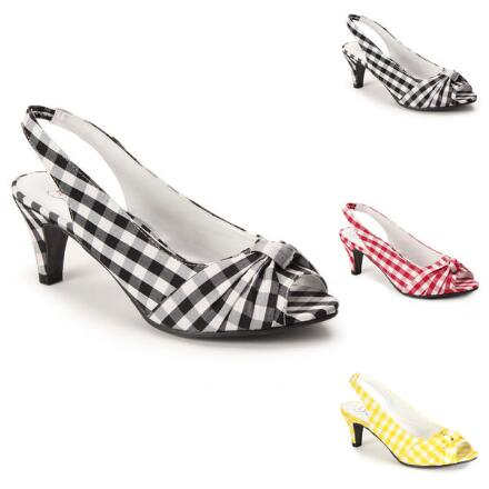 Knotted Gingham Slingback by EY Boutique