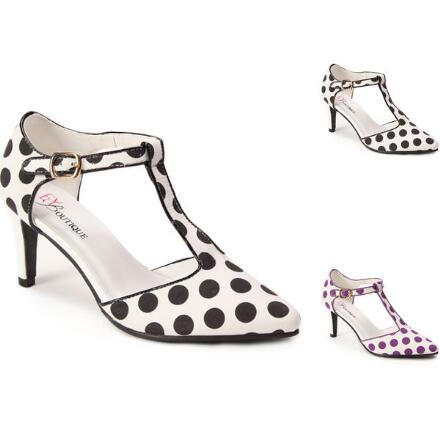 Lots of Dots T-Strap Pump by EY Boutique