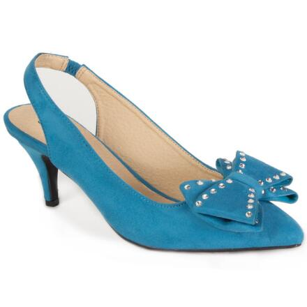 Bow Sueded Slingback by EY Boutique