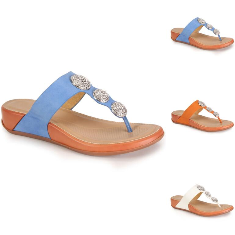 Jeweled Comfort Sandal by EY Boutique
