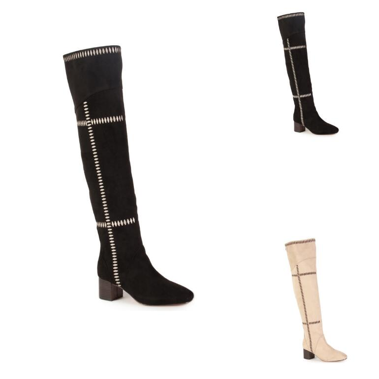 Whipstitch Over-Knee Boot by EY Boutique
