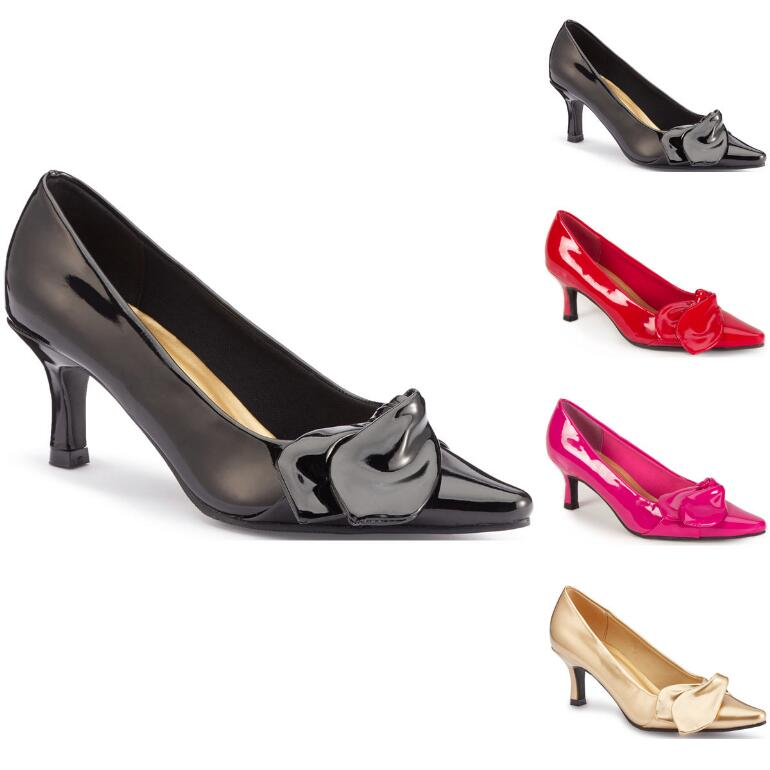 Side-Bow Patent Pump by EY Boutique