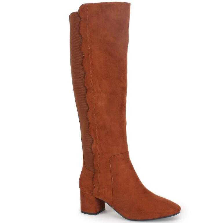 Scalloped-Trim Boot by EY Boutique