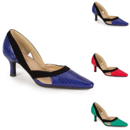 Two-Tone D'Orsay Pump by EY Boutique