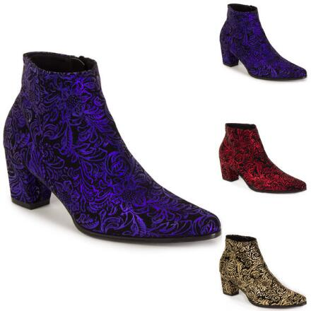 Embossed Baroque Bootie by EY Boutique