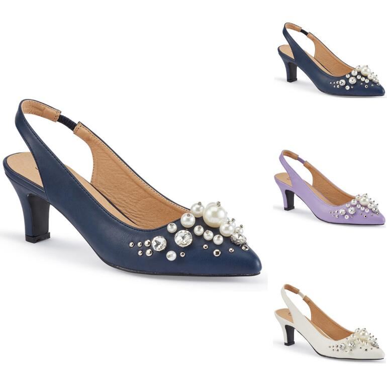 Pearl Luster Slingback by EY Boutique