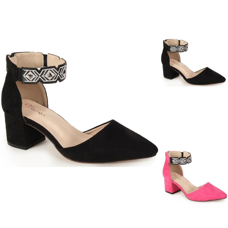 Embellished Ankle-Strap Pump by EY Boutique