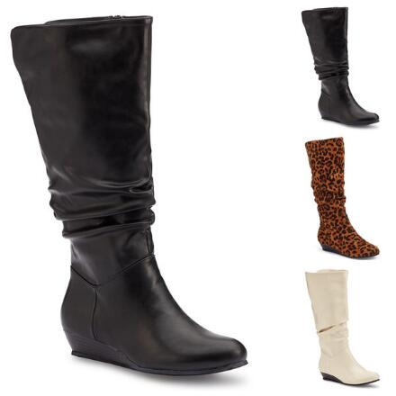 Scrunch-Style Wedge Boot by EY Boutique