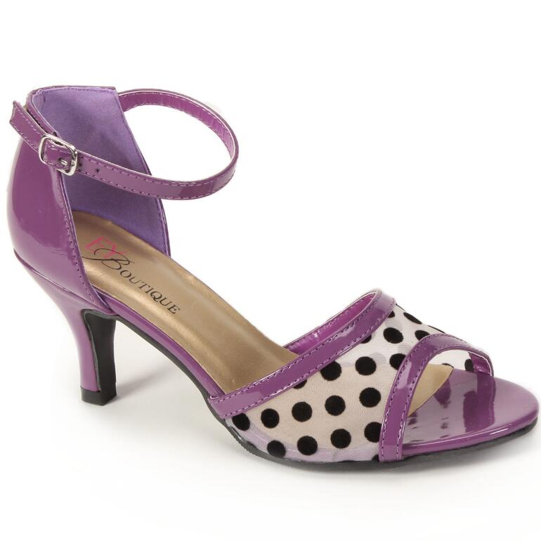 Mesh Dot Ankle Strap by EY Boutique