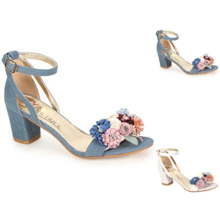 Floral Bouquet Ankle Strap by EY Boutique