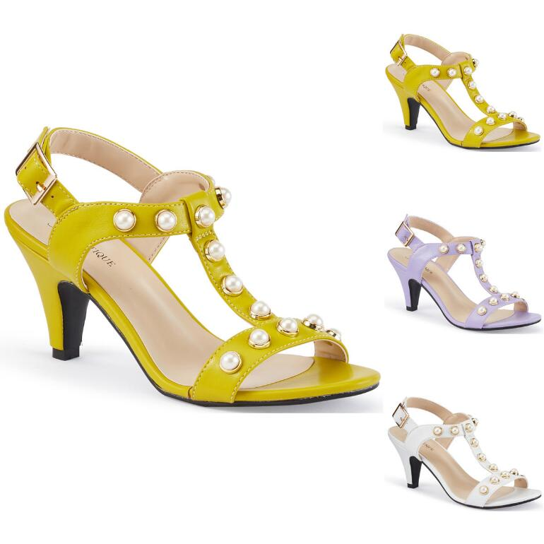 Studded with Pearls Sandal by EY Boutique