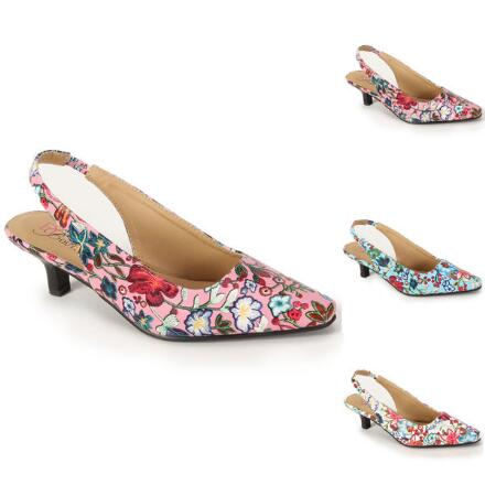 Fanciful Floral Slingback by EY Boutique
