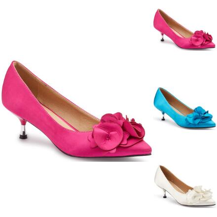 Rosette Satin Pump by EY Boutique
